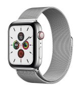 Apple Watch Series 5 44mm (GPS+LTE) Stainless Steel Case with Milanese Loop (MWW32/MWWG2)