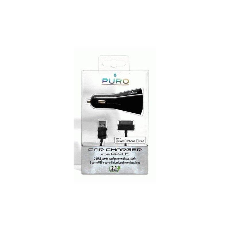 Автомобильное зарядное устройство Puro Car charger 2 USB Black