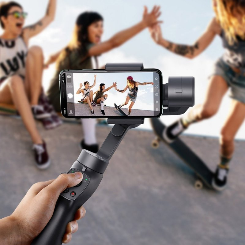 Трехосевой стабилизатор Baseus Control Smartphone Handheld Gimbal Stabilizer  Gray (SUYT-0G) купить в Одессе, Киеве, цена в Украине   отзывы Skay.ua