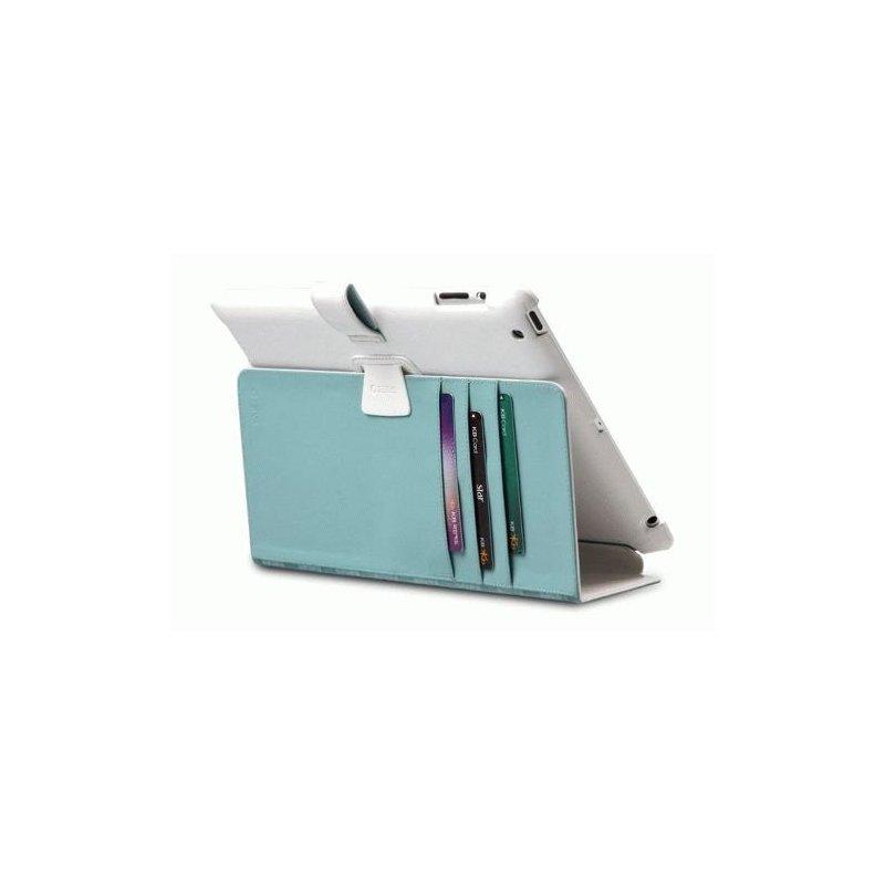 Кожаный чехол для iPad 2/iPad 3 New Zenus Masstige Block Folio Off White