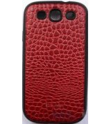 Parmp Crocodile Light Case для Samsung Galaxy SIII i9300 Red