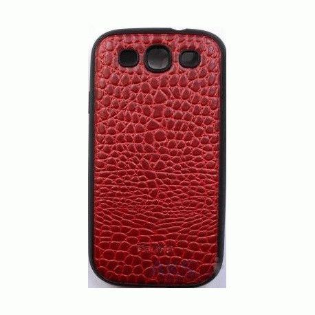 Parmp Crocodile Light Case для Samsung Galaxy SIII i9300 Red