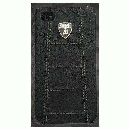 Lamborghini кожаная накладка для iPhone 4/4S Full Black