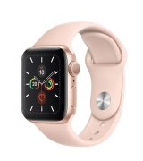 Apple Watch Series 5 40mm (GPS) Gold Aluminum Case with Pink Sand Sport Band (MWV72GK/A)