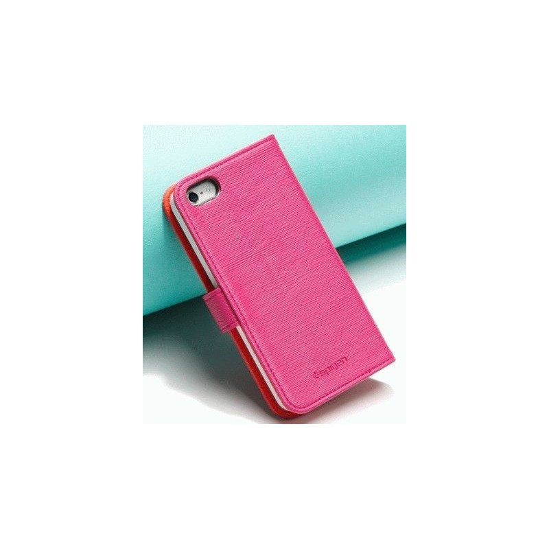 SGP illusion Leather Wallet Case iPhone 5 Pink