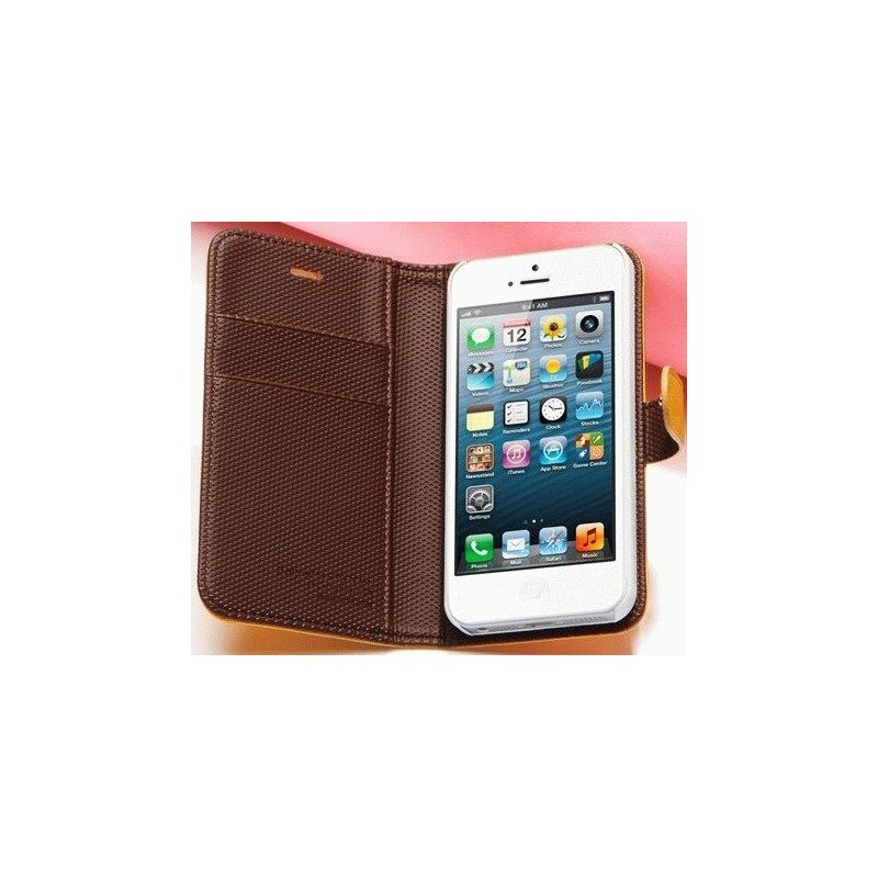 SGP illusion Leather Wallet Case iPhone 5 Yellow