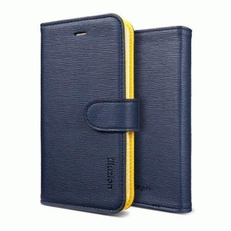 SGP illusion Leather Wallet Case iPhone 5 Blue