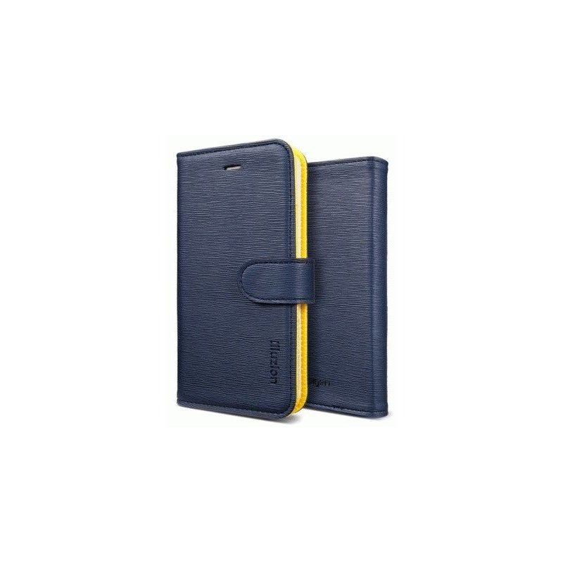 SGP illusion Leather Wallet Case iPhone 5 Blue