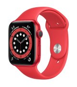 Apple Watch Series 6 44mm (GPS) Red Aluminum Case with (Product)Red Sport Band (M00M3UL/A)