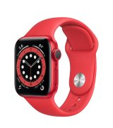 Apple Watch Series 6 40mm (GPS) Red Aluminum Case with (Product)Red Sport Band (M00A3UL/A)