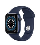 Apple Watch Series 6 40mm (GPS) Blue Aluminum Case with Deep Navy Sport Band (MG143UL/A)