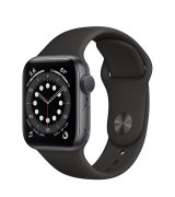 Apple Watch Series 6 40mm (GPS) Space Gray Aluminum Case with Black Sport Band (MG133UL/A)