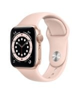 Apple Watch Series 6 40mm (GPS) Gold Aluminum Case with Pink Sand Sport Band (MG123UL/A)