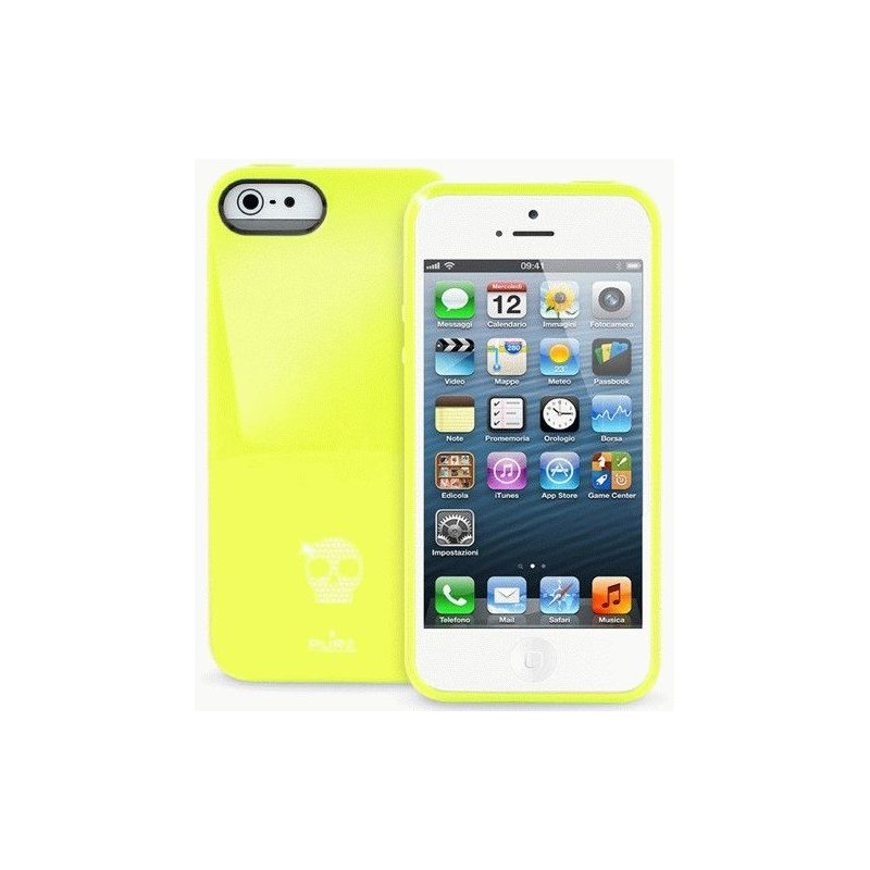 Puro Skull Cover накладка для Apple iPhone 5 Yellow