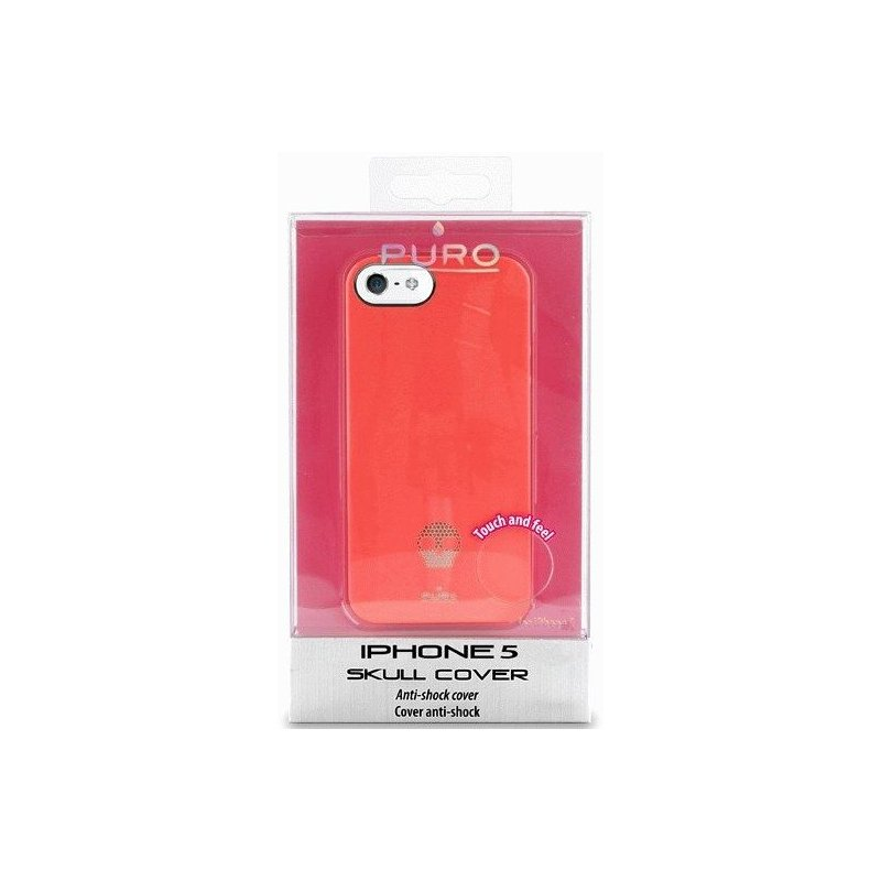 Puro Skull Cover накладка для Apple iPhone 5 Red