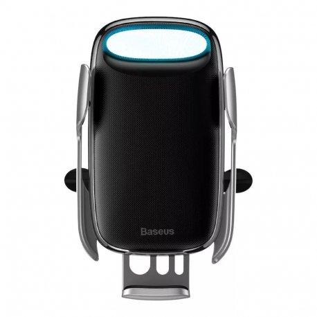 Автодержатель с беспроводным зарядным устройством Baseus Aurora Electric Holder Wireless Charging (WXHW02-0S)