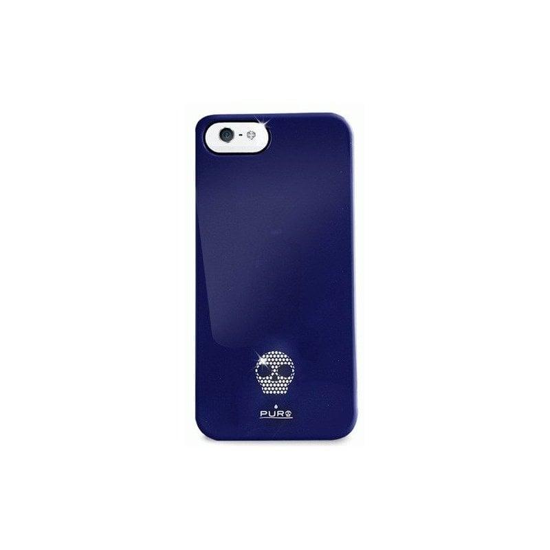 Puro Skull Cover накладка для Apple iPhone 5 Blue
