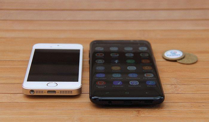 Galaxy S8 и iPhone SE
