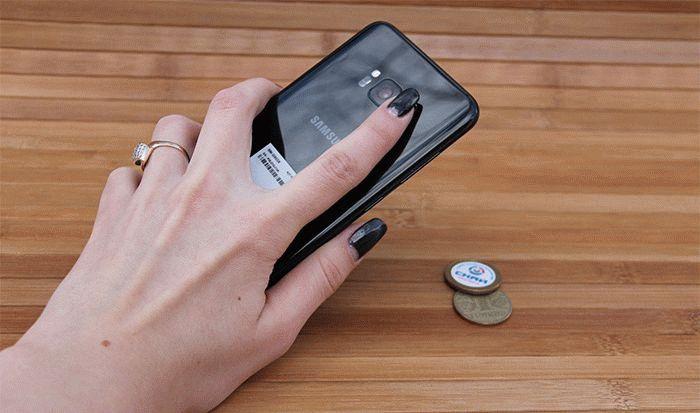 Galaxy S8 сканер отпечатка