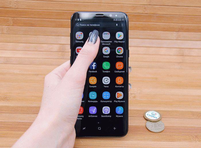 Galaxy S8 в руке