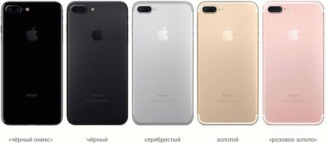 iPhone 7 plus в цветах