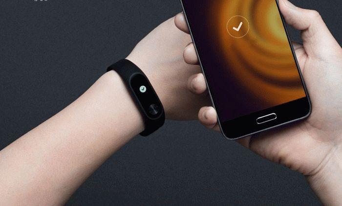 Xiaomi mi Band 2 и смартфон